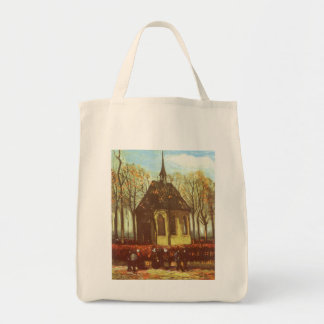 Chapel at Nuenen, Churchgoers by Vincent van Gogh Tote Bag