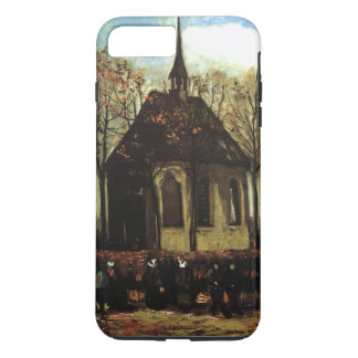 Chapel at Nuenen with Church Goers - van Gogh iPhone 7 Plus Case