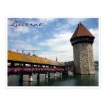 chapel bridge blue postcards