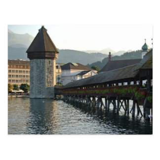 Chapel Bridge in Lucerne Switzerland Post Card