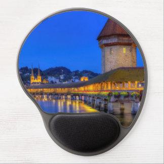 Chapel bridge, Kapellbrucke, Lucerne, Switzerland Gel Mouse Pad
