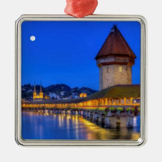 Chapel bridge, Kapellbrucke, Lucerne, Switzerland Metal Ornament