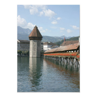 Chapel Bridge, Lucerne, Switzerland Custom Invitations