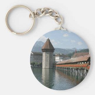 Chapel Bridge, Lucerne, Switzerland Key Chains