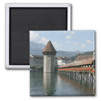 Chapel Bridge, Lucerne, Switzerland Fridge Magnets