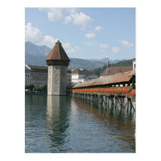 Chapel Bridge, Lucerne, Switzerland Post Card
