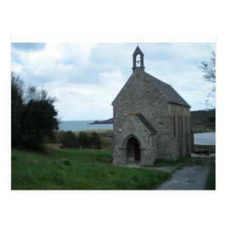 Chapel. Cancal. France Postcard