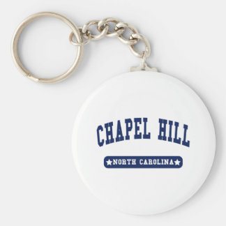 Chapel Hill North Carolina College Style tee shirt Basic Round Button Keychain