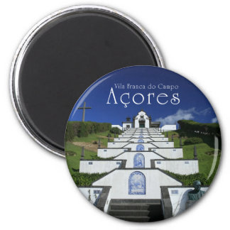Chapel in Azores 2 Inch Round Magnet