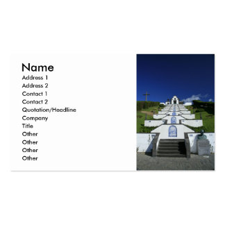Chapel in Azores Business Card Template