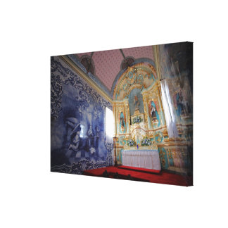 Chapel in Azores Stretched Canvas Prints