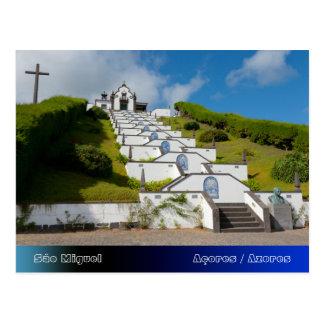 Chapel in Azores islands Postcard