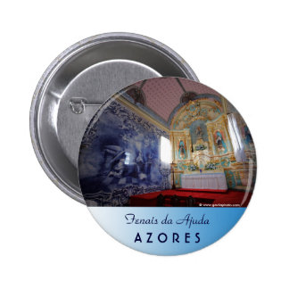 Chapel in Azores Pinback Button