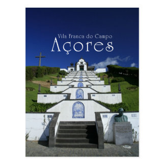 Chapel in Azores Postcard