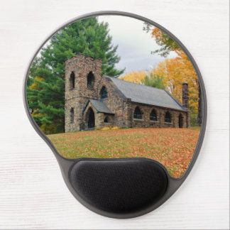 Chapel in fall gel mouse pad