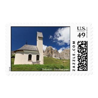 chapel in Gardena pass Stamp