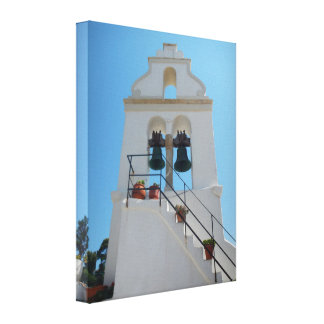 Chapel in Mouse Island, Corfu, Greece Canvas Print