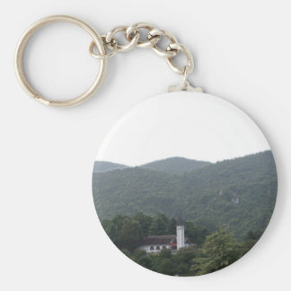 Chapel in Sky Valley Basic Round Button Keychain