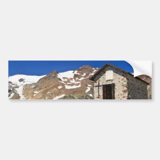 chapel in Stelvio National park Bumper Sticker