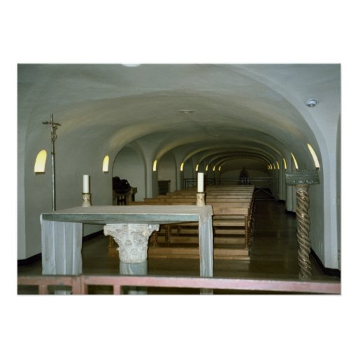 Chapel in the crypt of St Peter's Basilica Poster