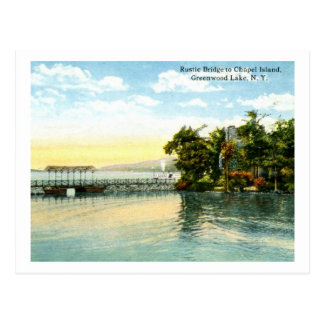 Chapel Island, Greenwood Lake, NY 1916 Vintage Postcard
