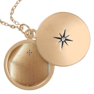 Chapel Light Round Locket Necklace