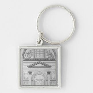 Chapel of the Pieta in St.Peter's Silver-Colored Square Keychain