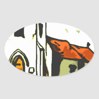 Chapel Oval Sticker