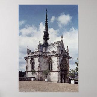 Chapelle Saint-Hubert of the Chateau Amboise Poster