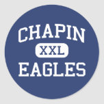 Chapin Eagles Middle Chapin South Carolina Round Stickers