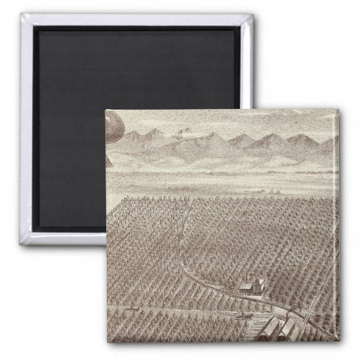 Chapin Fruit Ranch 2 Inch Square Magnet