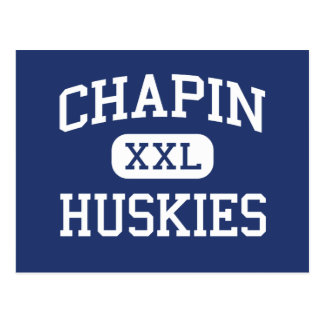 Chapin - Huskies - High School - El Paso Texas Postcard