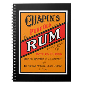 Chapins Pure Old Rum Label Notebook