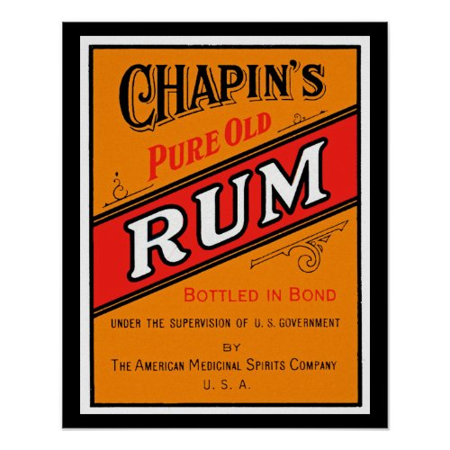 Chapins Pure Old Rum Label