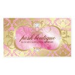 Chapista rosado pródigo 311 y reflejo de oro del d plantillas de tarjetas personales