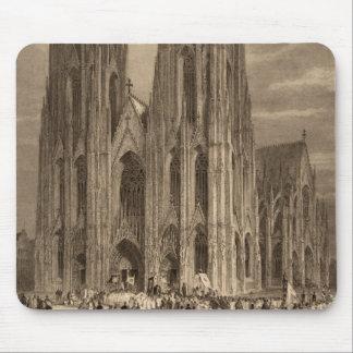 Chapitel de la catedral de Colonia que graba antig Alfombrilla De Ratones