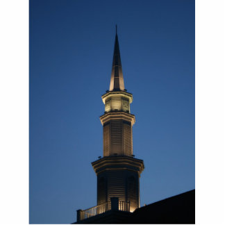 Chapitel de un edificio contra twighlight azul mar imán fotoescultura