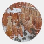 Chapitel en el barranco de Bryce Etiquetas Redondas