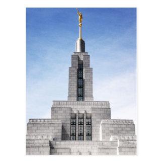 chapitel mormón del templo del ut del pañero de tarjetas postales