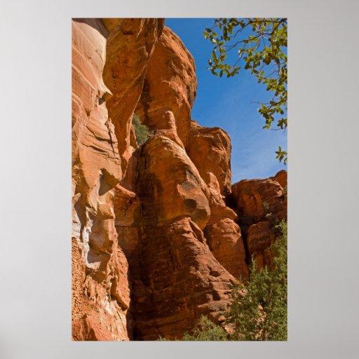 Chapiteles 3382 de la montaña de la roca póster