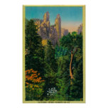 Chapiteles de la catedral y valle de Yosemite Posters