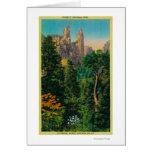 Chapiteles de la catedral y valle de Yosemite Tarjeton