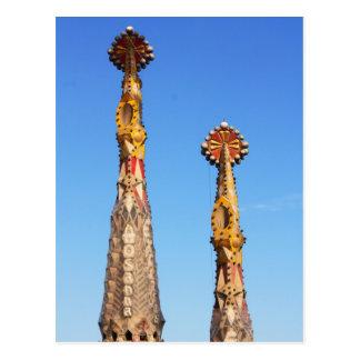 Chapiteles de Sagrada Familia Tarjeta Postal