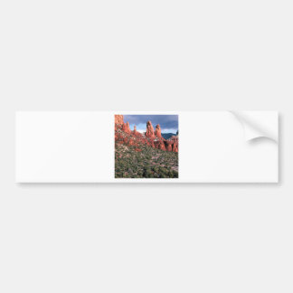 Chapiteles rojos Sedona Arizona de las rocas Pegatina De Parachoque