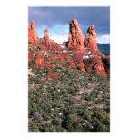 Chapiteles rojos Sedona Arizona de las rocas Papeleria Personalizada