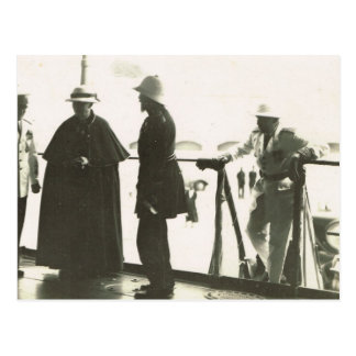Chaplain coming aboard postcard
