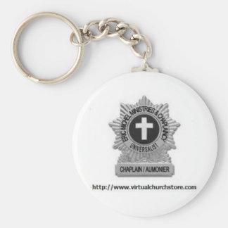 Chaplaincy Badge Logo Basic Round Button Keychain