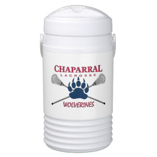 ChapLAX Claw Logo on White - Igloo Half Gallon Beverage Cooler