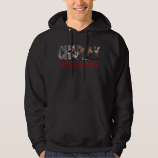 CHAPLAX WOLVERINES Men's Basic Hooded Sweatshirt