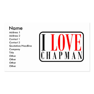 Chapman Alabama City Design Double-Sided Standard Business Cards (Pack Of 100)